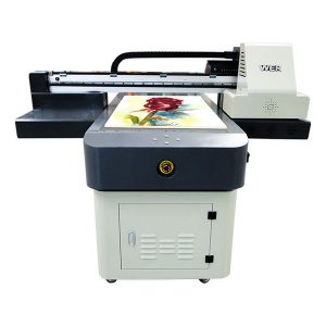 penjualan panas a1 / a2 / a3 / a4 format kecil digital uv flatbed printer 6090