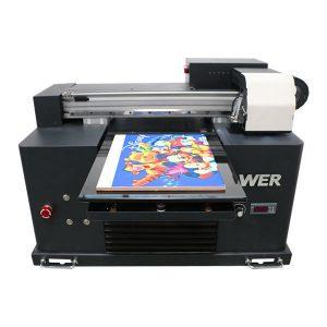 A2 A3 ukuran desktop kecil led uv flatbed printer untuk pencetakan dekorasi